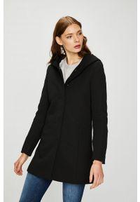 Czarny płaszcz Vero Moda z kapturem, na co dzień