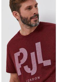 Pepe Jeans - T-shirt Rubens. Kolor: czerwony. Wzór: nadruk