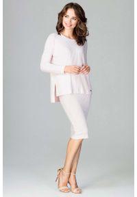 Różowa spódnica ołówkowa Katrus