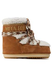 Brązowe śniegowce Moon Boot z cholewką, na zimę