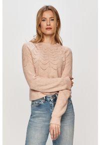 Różowy sweter Vero Moda casualowy, raglanowy rękaw