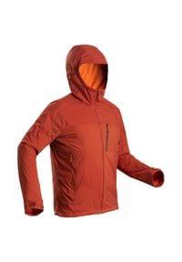 FORCLAZ - Kurtka Softshell trekkingowa - TREK 900 WINDWARM - męska. Kolor: pomarańczowy. Materiał: softshell