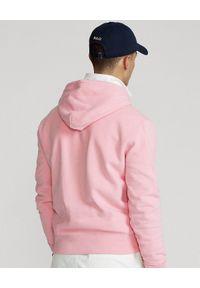 Ralph Lauren - RALPH LAUREN - Różowa bluza z kapturem. Typ kołnierza: kaptur. Kolor: różowy, wielokolorowy, fioletowy. Wzór: haft