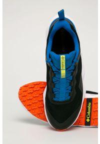 Czarne sneakersy columbia z cholewką, na sznurówki
