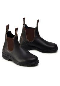 Brązowe buty zimowe Blundstone casualowe, z cholewką, na co dzień