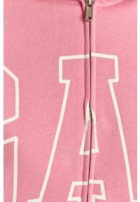 Różowa bluza rozpinana GAP na co dzień, z kapturem