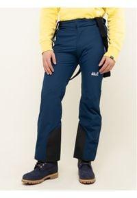 Niebieskie spodnie sportowe Jack Wolfskin narciarskie