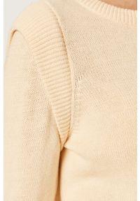Noisy may - Noisy May - Sweter. Okazja: na co dzień. Kolor: beżowy. Długość rękawa: długi rękaw. Długość: długie. Styl: casual