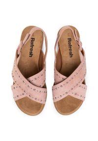 Różowe sandały Refresh na co dzień, casualowe