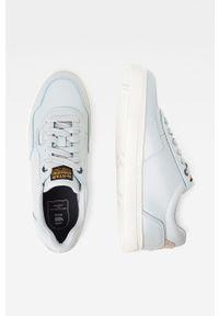 Niebieskie sneakersy G-Star RAW z okrągłym noskiem, z cholewką, na średnim obcasie, na obcasie