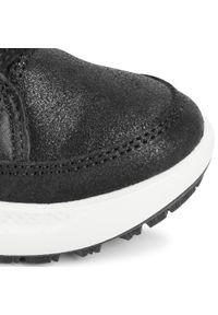 Czarne buty zimowe ecco na spacer, z cholewką