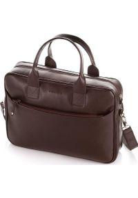 Brązowa torba na laptopa Brdrene klasyczna