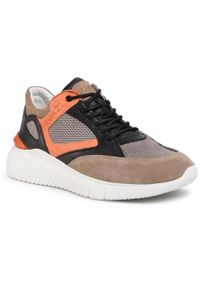 Sneakersy QUAZI - QZ-08-05-000956 614. Okazja: na spacer, na co dzień. Materiał: skóra, zamsz. Szerokość cholewki: normalna. Styl: klasyczny, sportowy, casual