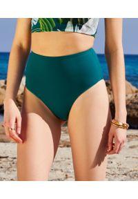 Zielony strój kąpielowy Etam z podwyższonym stanem