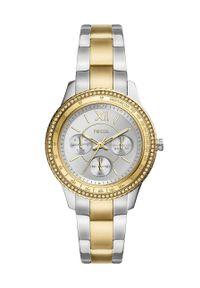 Fossil - Zegarek ES5107. Kolor: srebrny. Materiał: materiał