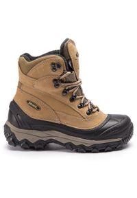 Brązowe buty trekkingowe MEINDL trekkingowe, z cholewką