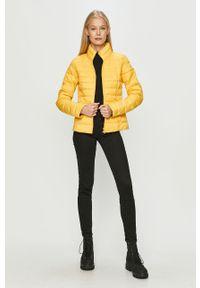 Żółta kurtka only bez kaptura, na co dzień, casualowa