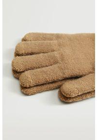Mango Man - Rękawiczki Touch. Kolor: brązowy
