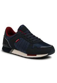 Niebieskie sneakersy Levi's® na co dzień, z cholewką