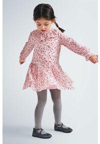 Różowa sukienka Mayoral mini, rozkloszowana