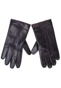 Czarne rękawiczki Emporio Armani