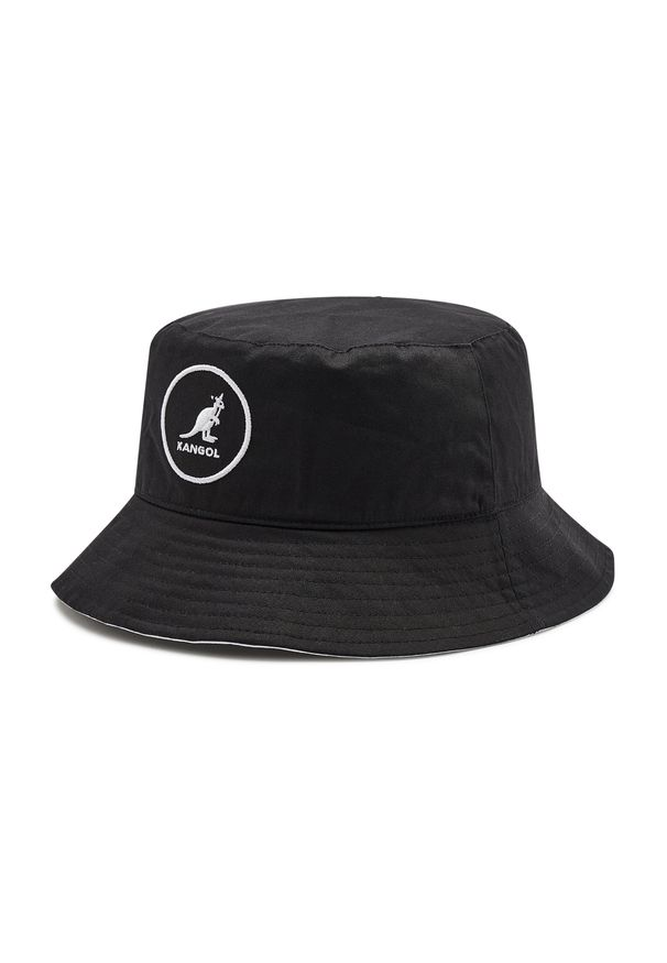 Kangol - Kapelusz KANGOL - Cotton Bucket K2117SP Black BK001. Kolor: czarny. Materiał: bawełna, materiał