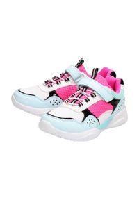 American Club - Sportowe buty dziecięce AMERICAN ES17/21 WT. Kolor: biały. Materiał: tkanina, skóra