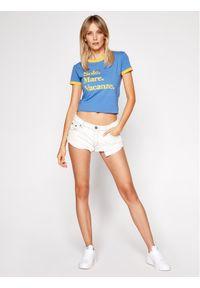 Niebieski t-shirt