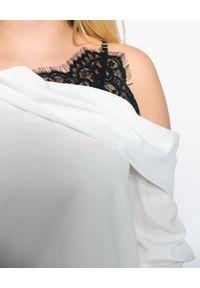 CRISTINAEFFE - Koszula z koronkową wstawką. Kolor: czarny. Materiał: koronka. Długość rękawa: długi rękaw. Długość: długie. Wzór: koronka. Sezon: jesień
