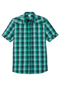 Niebieska koszula bonprix z krótkim rękawem, krótka