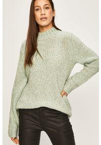 Miętowy sweter ANSWEAR na co dzień, casualowy