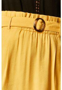 Żółta spódnica medicine na co dzień, z podwyższonym stanem