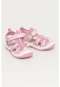 Różowe sandały Big-Star na rzepy, gładkie