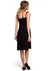 MOE - Bawełniana sukienka na cienkich ramiączkach na lato. Materiał: bawełna. Długość rękawa: na ramiączkach. Sezon: lato