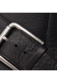 Czarne kozaki Clarks z aplikacjami, na średnim obcasie