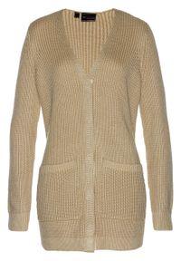 Szary sweter bonprix klasyczny, długi, melanż