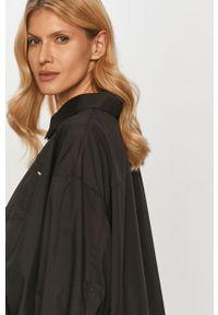 Czarna koszula Silvian Heach z długim rękawem, długa, klasyczna