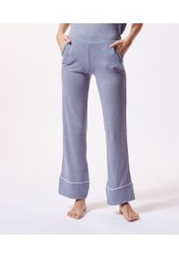 Warm Day Szerokie Spodnie W Jednolitym Kolorze - M - Morski - Etam. Kolor: morski. Wzór: jednolity