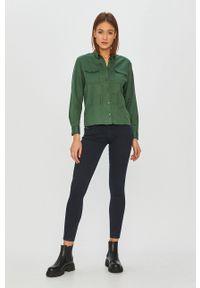 Zielona koszula G-Star RAW klasyczna, długa, z klasycznym kołnierzykiem