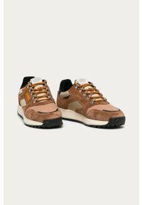 Sneakersy GANT na sznurówki, z okrągłym noskiem, z cholewką