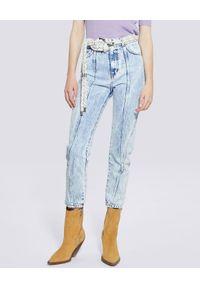 IRO - Błękitne jeansy z przeszyciami Celsian. Stan: podwyższony. Kolor: niebieski. Styl: vintage