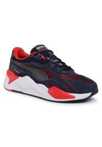 Niebieskie buty sportowe Puma do biegania, z cholewką