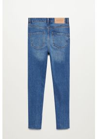 Niebieskie jeansy Mango Kids z podwyższonym stanem #3