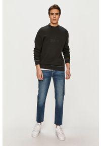 Czarna bluza nierozpinana Tommy Jeans bez kaptura, na co dzień, casualowa