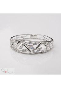 Polcarat Design - Bransoletka srebro z cyrkoniami R 908. Materiał: srebrne. Wzór: aplikacja. Kamień szlachetny: cyrkonia