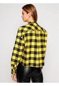 Tommy Jeans Koszula Tjw Gingham Check DW0DW08910 Żółty Relaxed Fit. Kolor: żółty