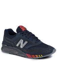 Niebieskie sneakersy New Balance z cholewką, na co dzień