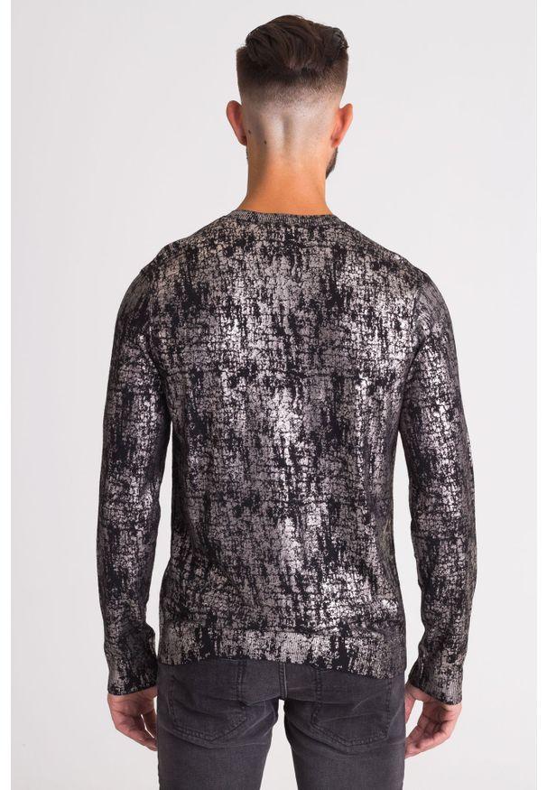 Sweter Versace Collection z okrągłym kołnierzem, z nadrukiem