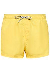 Pepe Jeans Szorty kąpielowe New Brian PMB10265 Żółty Regular Fit. Kolor: żółty