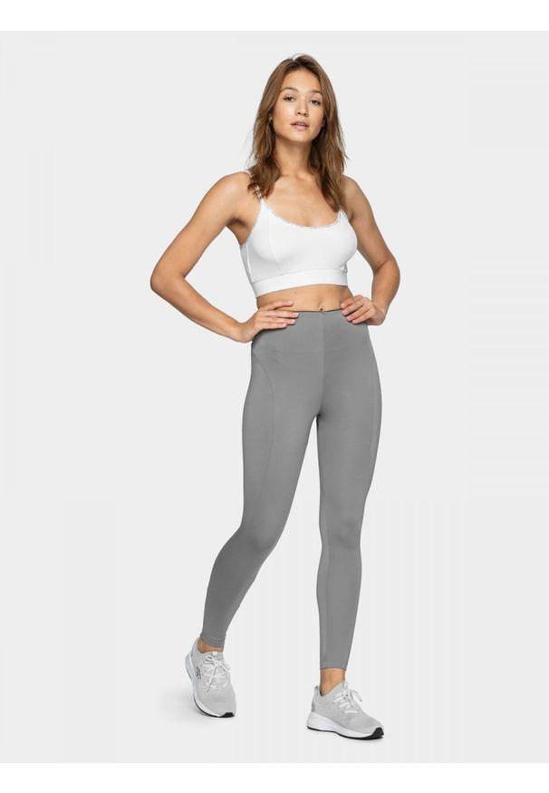 Szare spodnie do fitnessu outhorn do kostek